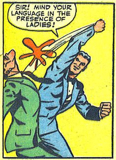 """Comic Boy's Say.. """" Sir ! Mnd yourlanguage in the presence of ladies ! """".. #comic #vintage"""