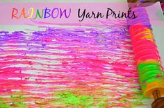 Colorful yarn printing for letter Y