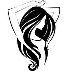 Girl icon vector