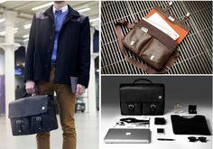 """[리타몰] 노모런던 잭슨 - 15"""" 노트북을 수납 가능한 서류 가방으로 두개의 커다란 프론트 포켓과 서브 포켓들로 다양한 수납 공간 제공"""