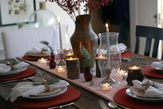 Christmas Table Decoration #Christmas #table