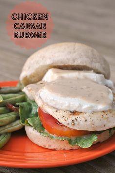 Chicken Caesar Burger + Weekly Menu by Prevention RD