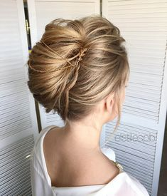 Pretty French Chignon Wedding hairstyle perfect for every season
