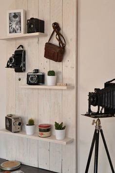 How To Turn Your Vintage Camera Collection into Wall Art #artdeco