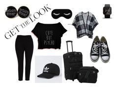 """Untitled #288"" by ilona-giladi ❤ liked on Polyvore featuring Melissa McCarthy Seven7, Tommy Hilfiger, 1:Face, Converse, GetTheLook, airportstyle and plus size clothing"