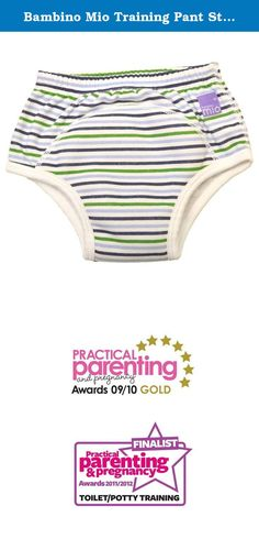 Bambino Mio Training Pant Stripe Print 2 - 3 Years. Bambino Mio training pants are an essential item when starting to potty train. The training pants are made from a soft cotton blend with a water resistant layer and absorbent inner pad. These pants have been designed to allow toddlers to feel wetness to help aid potty training, while minimising accidents. Designed with a pull-up style, to promote independence, these training pants are the perfect first step from nappies to pants. These...