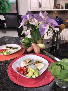 Nourish | Nurture | Thrive Sweetsimpledelicious.com Vegan Spinach and Sweet Potato Quesadilla