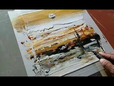 Abstract painting / Abstract landscape in just 3 minute / realtime demonstration - YouTube