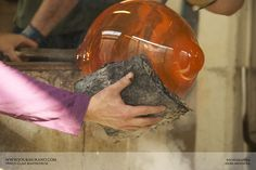 Glass making hands.