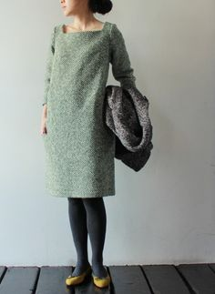 love this tweed/wool dress. beautiful