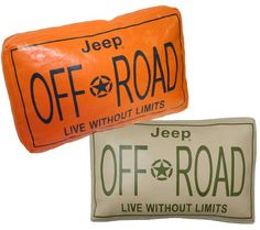 All Things Jeep - Jeep Off-Road License Plate Pillow
