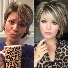 Very Easy Hairstyles Mornings is part of Very Easy Hairstyles For Very Busy Mornings - Why LimeLife's foundation is a professional makeup staple Short Hair With Layers, Short Hair Cuts, Short Hair Styles, Very Easy Hairstyles, Short Bob Hairstyles, Brown Hairstyles, Bob Haircuts, Short Layered Haircuts, Trending Hairstyles