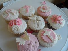 cupcakes para Bautizo o Primera Comunion