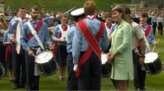 Duchess Catherine hands out Scouts Honour's at the National Review of Queen's Scouts at Windsor Castle 21 Apr 2013