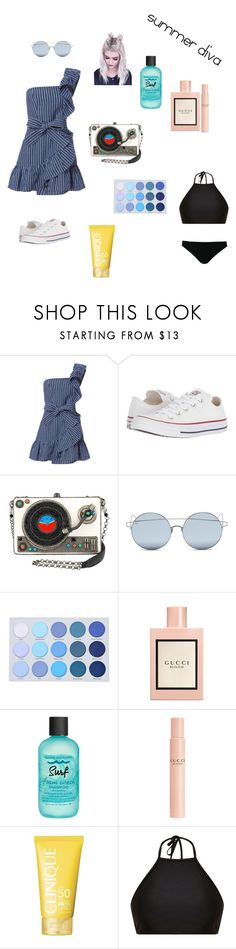 """""""summer diva😎"""" by milaxox ❤ liked on Polyvore featuring Alexis, Converse, For Art's Sake, Gucci, Bumble and bumble, Clinique, Mix & Match and Rick Owens"""