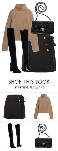 """""""Untitled #5151"""" by theeuropeancloset ❤ liked on Polyvore featuring Topshop, Bianca Di and Chanel"""