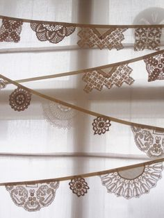 Vintage Doily Bunting by Bunting Boutique