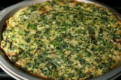 The Paleo Diet Recipes: Easy Spinach 'n Mushroom Frittata