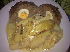 Ρολό από κιμά με πατάτες φούρνου!!! ~ ΜΑΓΕΙΡΙΚΗ ΚΑΙ ΣΥΝΤΑΓΕΣ
