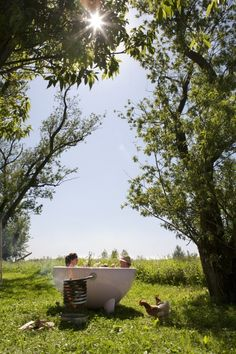 Dutchtub, a portable wood burning hot tub from Holland. One day...