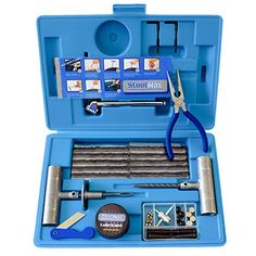 67 Piece Heavy Duty Flat Tire Repair Kit with Auto Changing & Insertion Tools|Onroad/Offroad Tubeless Puncture Set|Vulcanizing Plugs Fix Tire without Glue|Truck,Car,Motorcycle,ATV,UTV,Jeep,Lawnmower. For product info go to:  https://www.caraccessoriesonlinemarket.com/67-piece-heavy-duty-flat-tire-repair-kit-with-auto-changing-insertion-toolsonroadoffroad-tubeless-puncture-setvulcanizing-plugs-fix-tire-without-gluetruckcarmotorcycleatvutvjeeplawnmow/
