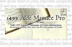 1499 Alde Manuce PRO OTF by GLC Foundry on @creativemarket