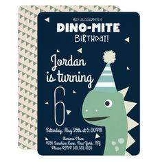 Green Dinosaur Birthday Confetti Invitation Dinosaur Birthday Invitations, Dinosaur Birthday Party, Birthday Gifts, Dinosaur Party Supplies, Zazzle Invitations, Diy, Orange, Design Products, Dream Big