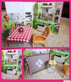 Basteln für Barbie  Platzsparendes kleines Barbiehaus in Ringordnern selber basteln. Alles passt in diese Box. Bauanleitung - Barbiehaus für unter 20 Euro bauen das sowohl für Barbie als auch als Puppenhaus geeignet ist. **by: www.missmommypenny.de** DIY Barbiehouse built in Rinbinders. Barbiedollhouse for less than 20 Euros, Tutorial