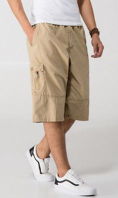 519b618824 Men Military Tactical Cargo Shorts Male Summer Casual Capris Plus Size XXXL  4XL 5XL 6XL Man