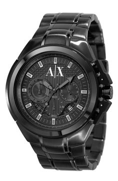 I need gunmetal watch to finish my collection!  AX Armani Exchange Men's Chronograph Watch available at #Nordstrom
