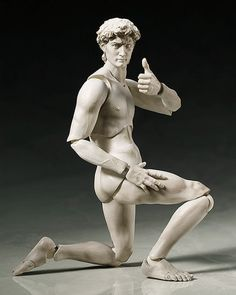 These Iconic Sculptures Are Now Bendable Action Figures | Mental Floss