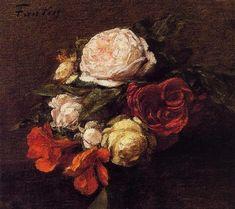 Roses and Nasturtiums - Henri Fantin-Latour
