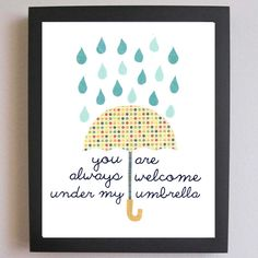 Umbrella art - you are always welcome under my umbrella