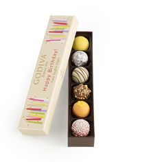 Godiva Chocolatier Happy Birthday Cake Truffle Flight, 6 Count * Read more reviews of the product by visiting the link on the image.