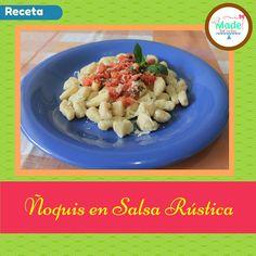 Receta - Ñoquis en Salsa Rústica. MadeinCocina.