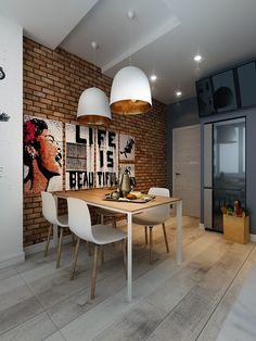 декор для кухни, декор в современом стиле, интерьер кухни, идея интерьера кухни, дизайн кухни Interior Design Living Room, House Design, Enterier Design, Dining Room Decor, Interior Design, Home Decor, House Interior, Brick Design, Industrial Home Design