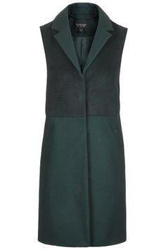 Sleeveless Tailored Coat / Long Vest