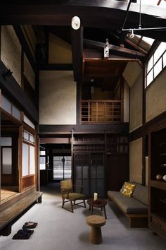 Japanese timber and plaster house