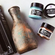 The Paste can make something ordinary look extraordinary: #Repost @paperiliitin  ・・・  I really like the patina and rust pastes, they are so easy! And they're soon coming in the bigger jars! @prima_mixedmedia @michaelsstores @finnabair #makeitwithmichaels #mixedmedia #rustpaste #patinapaste #excited #altered