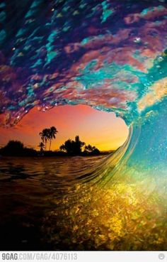 Mother Nature Win: Epic sunset wave
