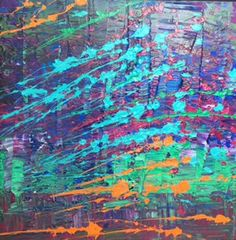 Beautiful Bamboo Forest 5: Niam Jain Autism Artist: Abstract Art