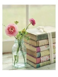 dcb18214f9 Art Print  Blooming Books by Mandy Lynne   24x18in Style Shabby Chic