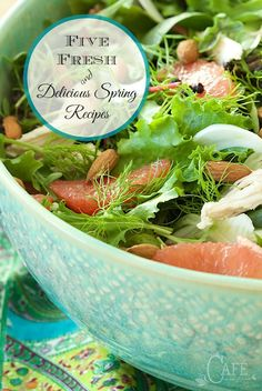 Join us, as we rediscover Five Fresh, Delicious Spring Recipes - some of The Café's best, healthy, fresh and seasonal springtime recipes.