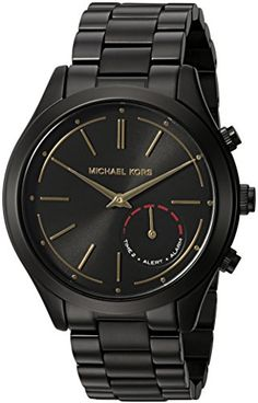Michael Kors Access Hybrid Black Slim Runway Smartwatch *** You can find out more details at the link of the image. Mens Sport Watches, Watches For Men, Ladies Watches, Smartwatch, Smart Watch Review, Watch For Iphone, Apple Watch Fashion, Thing 1, Fossil Watches