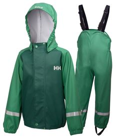 K VOSS RAINSET A Helly Hansen classic. A waterproof rain set for kids comprising of a jacket with bib and brace overalls. Camping Outfits, Kids Outfits, Bib And Brace Overalls, Kids Overalls, Day Work, Camping Equipment, Helly Hansen, Rain Wear, Outdoor Gear