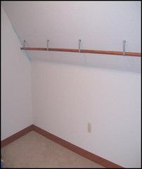Angled ceiling closet rod brackets – Groover Enterprises Inc.