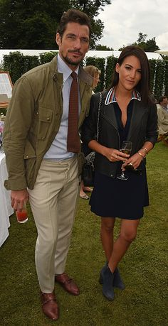David Gandy and guest attend The Cartier Style et Luxe at the Goodwood Festival of Speed at Goodwood on June 26 2016 in Chichester England