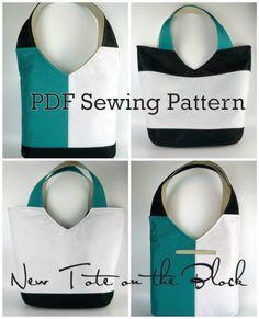 toriska color block tote sewing pattern