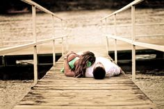 Love the focal point at the end of the dock with the subjects! #LAPhotography