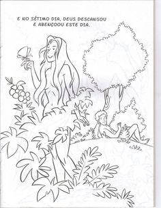 Livro com a história da criação do mundo para colorir, pintar, imprimir! - Espaço Educar desenhos para colorir